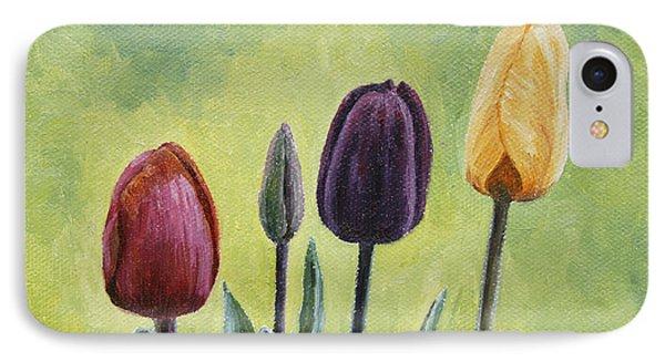 Tulip Trio Phone Case by Crista Forest