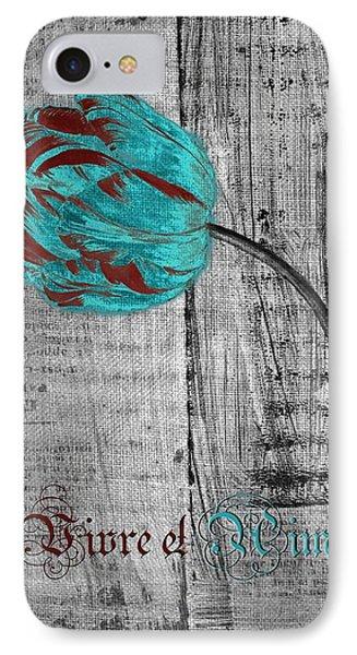Tulip - Vivre Et Aimer S12ab4t Phone Case by Variance Collections