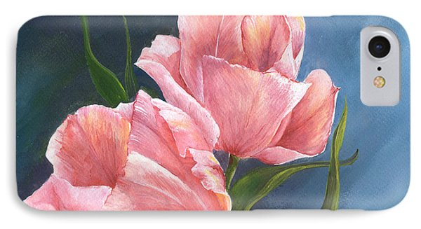 IPhone Case featuring the painting Tulip Waltz by Sherry Shipley