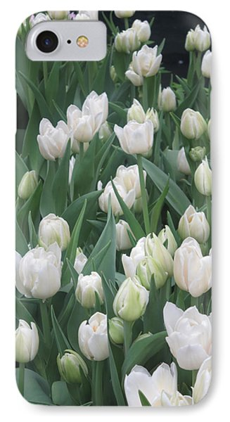 IPhone Case featuring the photograph Tulip White Show Flower Butterfly Garden by Navin Joshi