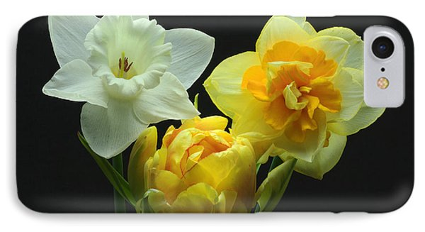 IPhone Case featuring the photograph Tulip With Daffodils by Robert Pilkington