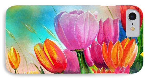 Tulipa Festivity IPhone Case by Angel Ortiz