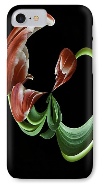 Tulipart IPhone Case by Cyndy Doty