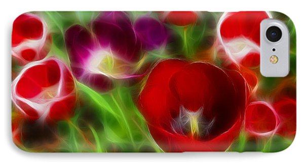 Tulips-6967-fractal Phone Case by Gary Gingrich Galleries