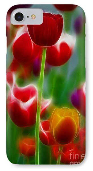 Tulips-7069-fractal Phone Case by Gary Gingrich Galleries