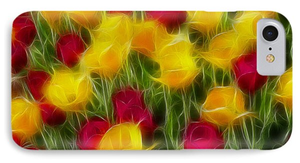 Tulips-7106-fractal Phone Case by Gary Gingrich Galleries