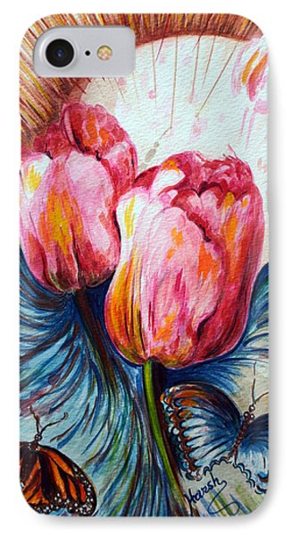 Tulips And Butterflies Phone Case by Harsh Malik