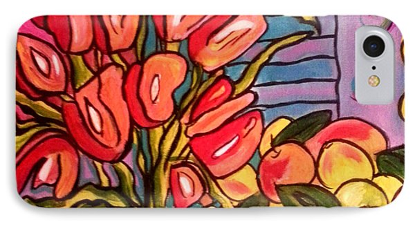 Tulips And Fruit IPhone Case