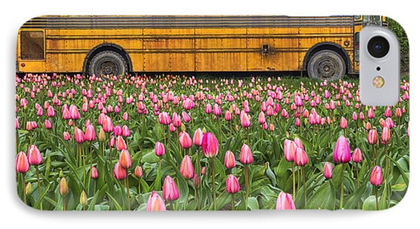 Tulips And Old Bus IPhone Case