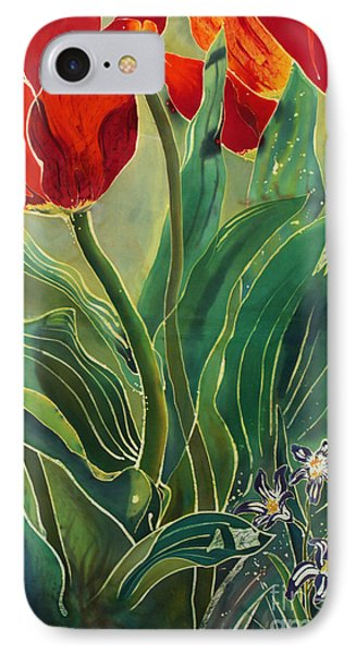 Tulips And Pushkinia Phone Case by Anna Lisa Yoder