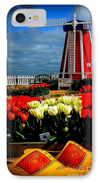 Tulips And Windmill Phone Case by Susan Garren