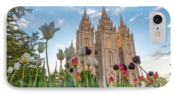 Tulips At The Temple IPhone Case