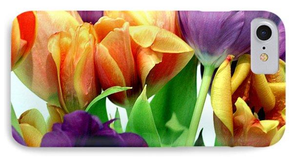 Tulips Bouquet IPhone Case by Karen Nicholson