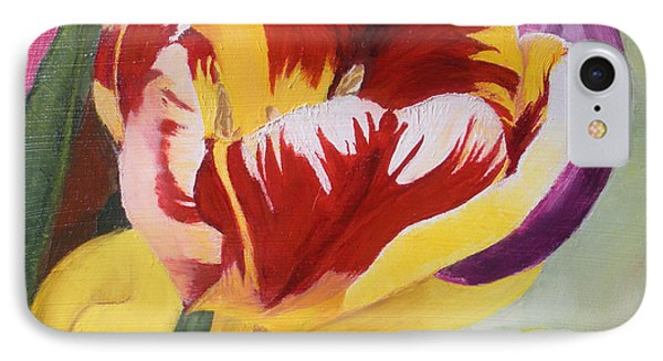 Tulips IPhone Case by Claudia Goodell