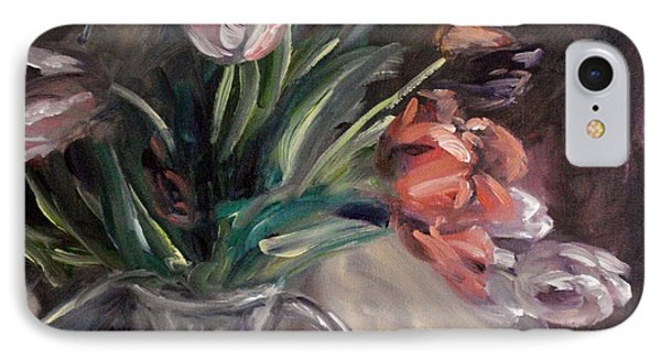 IPhone Case featuring the painting Tulips by Donna Tuten