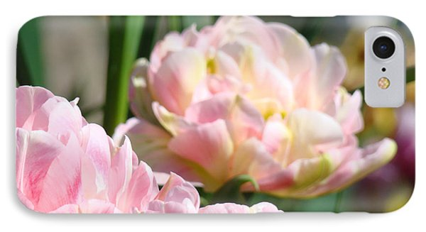 Tulips Flowers Garden Art Prints Pink Tulip Floral Phone Case by Baslee Troutman