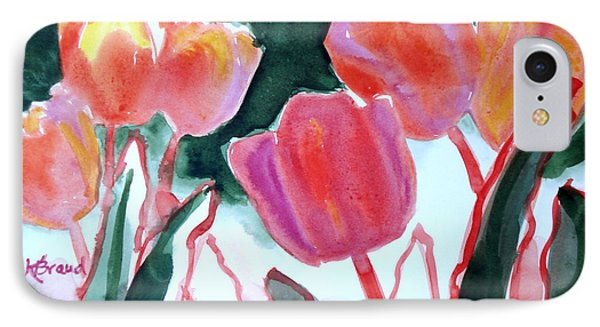 Tulips For The Love Of Patches Phone Case by Kathy Braud