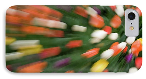 Tulips Gone Wild Abstract IPhone Case by Linda Matlow