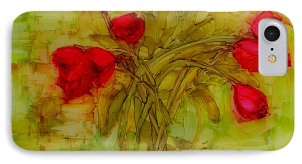 Tulips In A Glass Vase Phone Case by Patricia Awapara