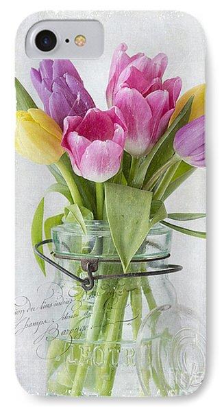 Tulips In A Jar IPhone Case