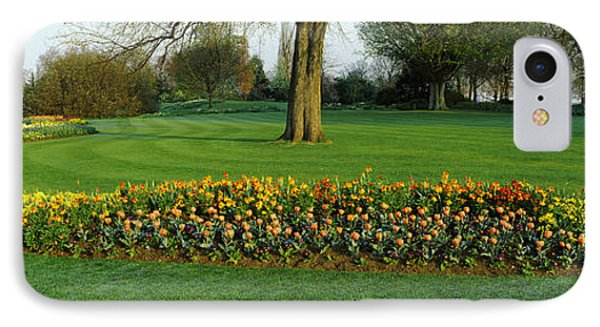 Tulips In Hyde Park, City IPhone 7 Case by Panoramic Images