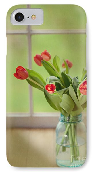 Tulips In Mason Jar Phone Case by Kay Pickens