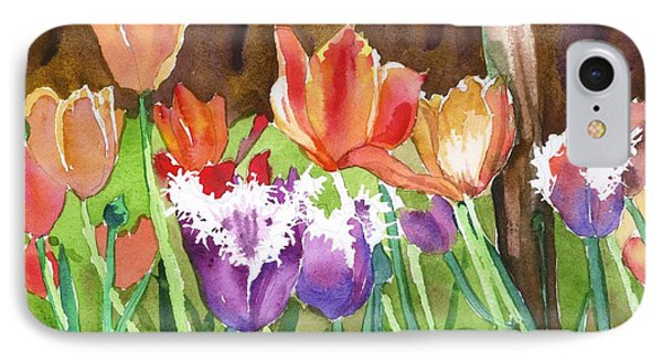 IPhone Case featuring the painting Tulips In Spring by Yolanda Koh