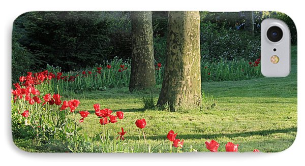 IPhone Case featuring the photograph Tulips In The Park by Jose Oquendo
