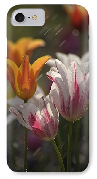 IPhone Case featuring the photograph Tulips In The Rain by Phyllis Peterson