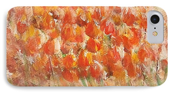 IPhone Case featuring the painting Tulips by Jane  See