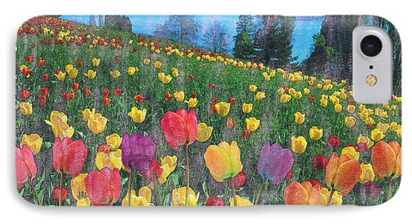 Tulips Lake Phone Case by Anthony Caruso