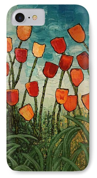 IPhone Case featuring the painting Tulips by Linda Bailey