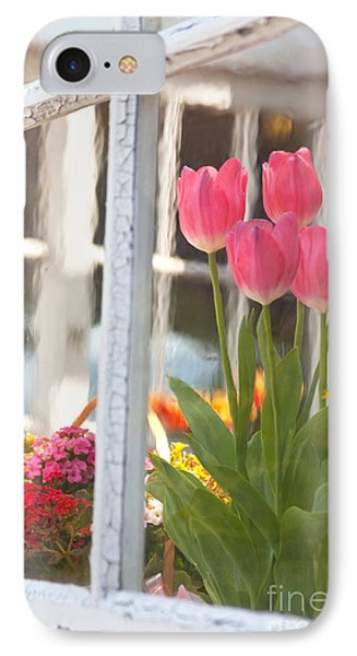 Tulips Of Greenhouse IPhone Case by Aiolos Greek Collections