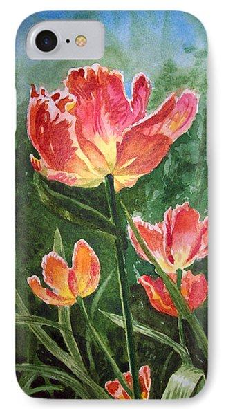Tulips On Fire IPhone Case by Irina Sztukowski