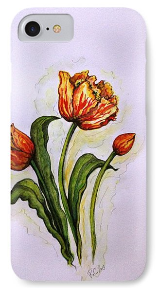 IPhone Case featuring the painting Tulips by Rae Chichilnitsky