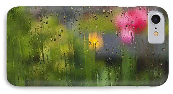 IPhone Case featuring the photograph Tulips Through The Rain by Maria Janicki