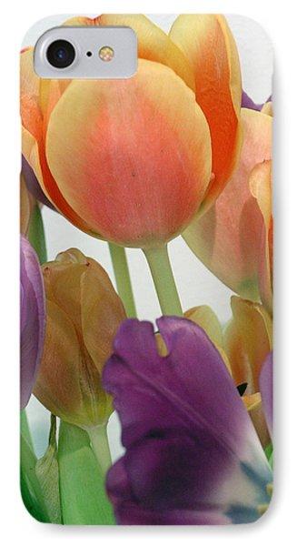 Tulips Up Close IPhone Case by Karen Nicholson