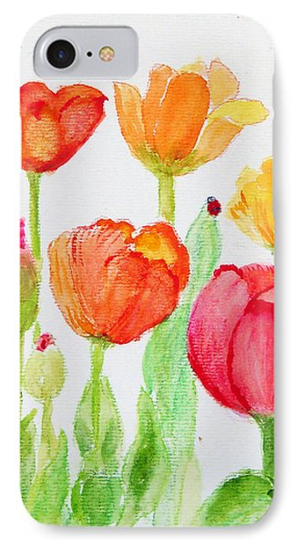 Tulips With Lady Bug Phone Case by Ashleigh Dyan Bayer