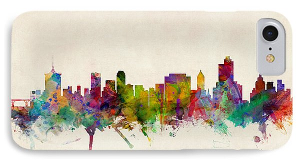 Tulsa Oklahoma Skyline IPhone Case by Michael Tompsett