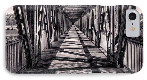 Tulsa Pedestrian Bridge In Black And White Phone Case by Tamyra Ayles