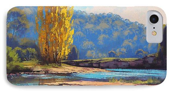 Tumut River Poplar IPhone Case by Graham Gercken