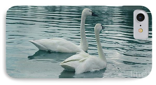 Tundra Swans Phone Case by Kathleen Struckle