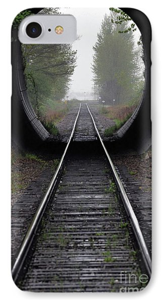 Tunnel Into The Mist  Phone Case by Rod Wiens