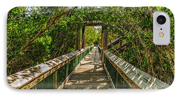 IPhone Case featuring the photograph Tunnel Of Mangrove Green by Julis Simo