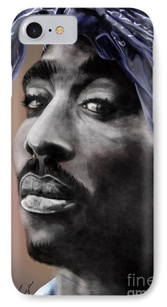 Tupac - The Tip Of The Iceberg  Phone Case by Reggie Duffie