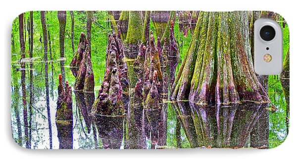 Tupelo/cypress Swamp Reflection At Mile 122 Of Natchez Trace Parkway-mississippi Phone Case by Ruth Hager
