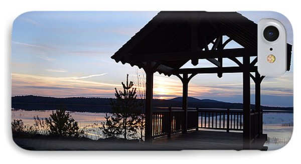 Tupper Lake Sunset Over Raquette Pond IPhone Case by Maggy Marsh