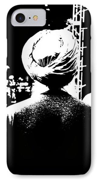 Turbante Blanco Y Negro IPhone Case