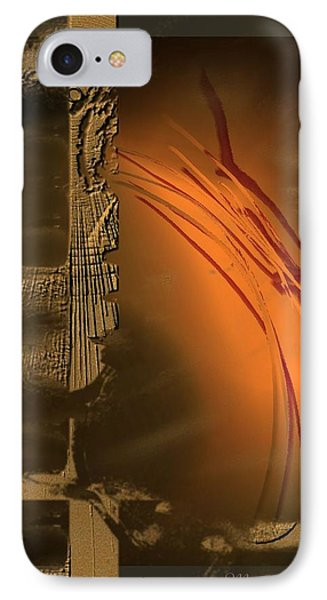 Turbulence In Gold IPhone Case by Ines Garay-Colomba
