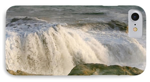 Turbulent Sea IPhone Case by Art Block Collections